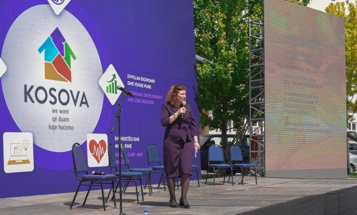 Besa Luzha shpreh respekt për qëndrimet e Vjosa Osmanit kundër Thaçit dhe demarkacionit