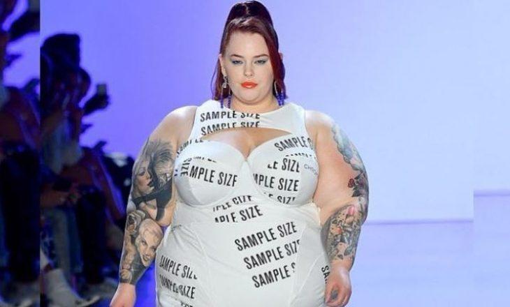 Manikenia me peshë prej 127 kg defilon në pistën e modës