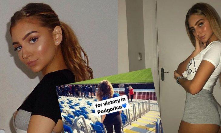 Motra e portierit të kombëtares kosovare e përkrahë vëllaun e saj