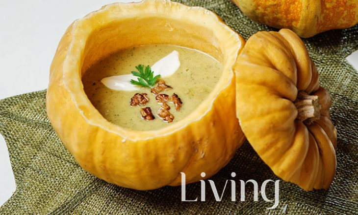 Supë me kungull të verdhë dhe erëza