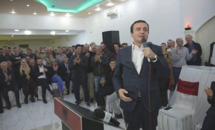 Kurti në tubim me qytetarë në Viti: Do të zbatojmë reciprocitet me Serbinë