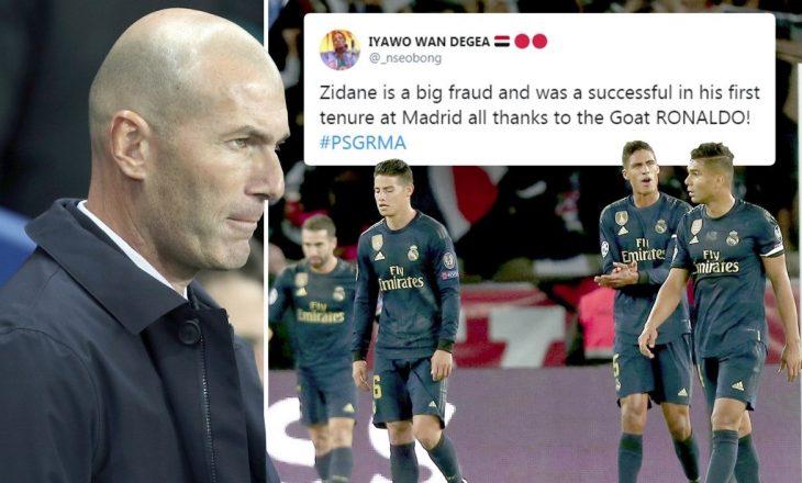 """""""Asgjë pa Ronaldon"""" – tifozët tallen me Zidanen dhe e kërkojnë shkarkimin e tij"""