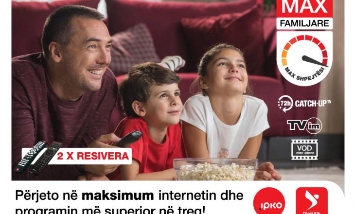 IPKO sjell pakot superiore në treg për televizion dhe internet – IPKO MAX