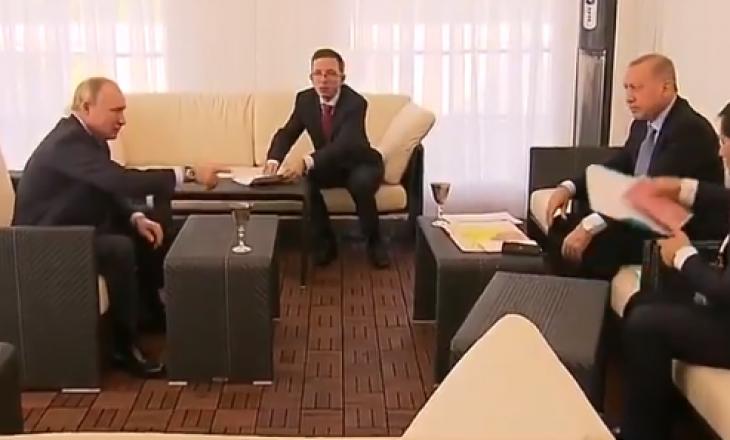 Putin më i shkathët se shoku i tij Erdogan, i thotë të fsheh hartën e Sirisë nga kamerat