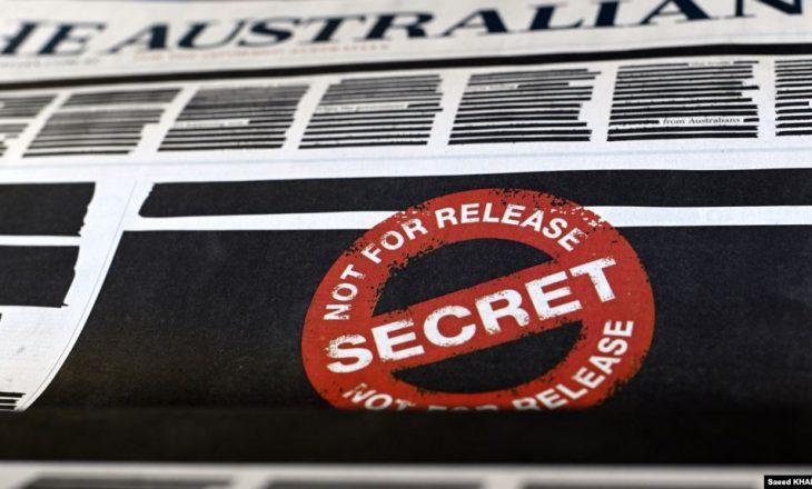 Gazetat në Australi dalin me ballina të zeza