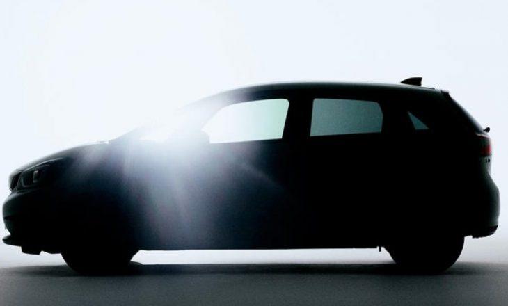 Honda tregon siluetën e modelit Fit, të ri dizajnuar në tërësi