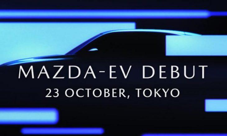 Mazda tregon dukjen e makinës që mbushet me rrymë, të cilën e prezanton gjatë javës që vjen