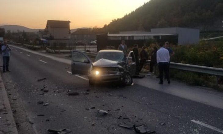 Aksident në rrugën Mitrovicë-Bajgorë, ka të lënduar