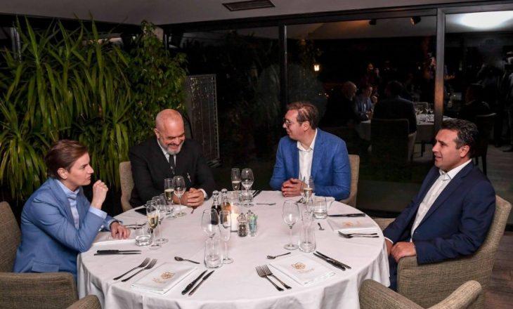 Takohen Rama, Vuçiqi e Zaevi, diskutojnë për mini-Shengenin ballkanik