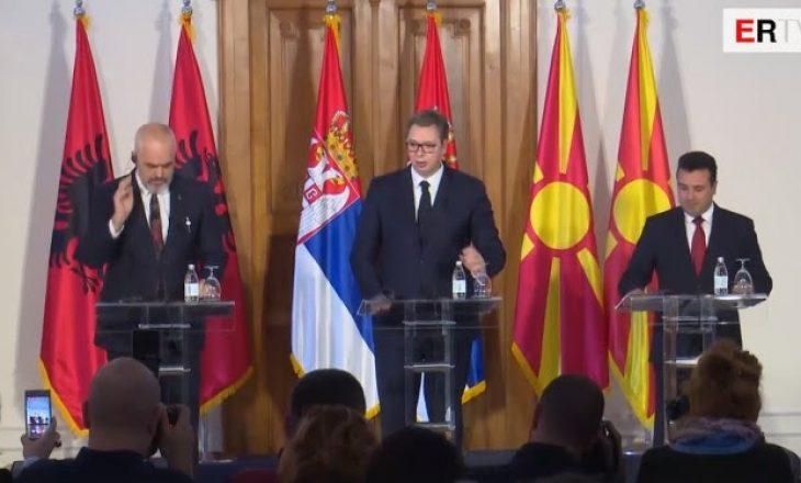 Rama, Vuçiq, Zaev dakordohen për lëvizjen e lirë të mallrave dhe njerëzve