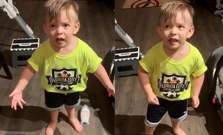 Nëna harroi ta puthte, reagimi qesharak i vogëlushit dyvjeçar