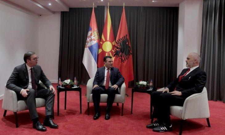 Zaev, Rama dhe Vuçiq fillojnë takimin në Ohër