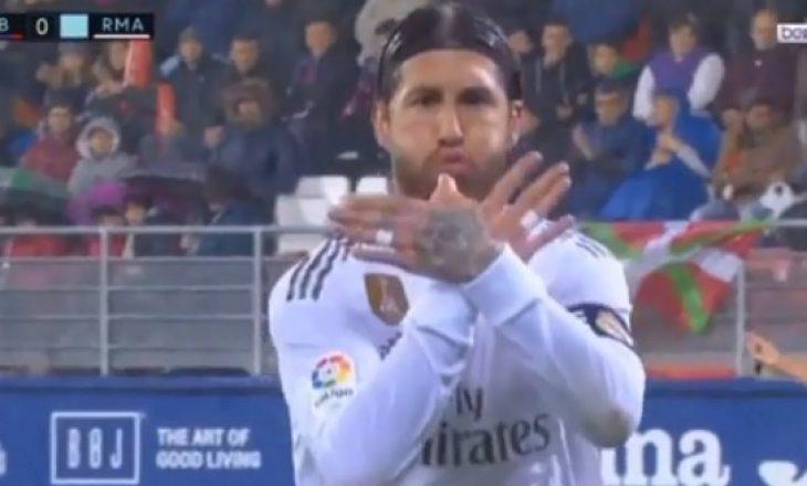 Ramos shënon gol dhe feston me shqiponjë (VIDEO)