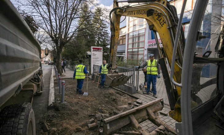Ahmeti për rregullimet e trotuareve në Prishtinë: Janë prioritet i muajit