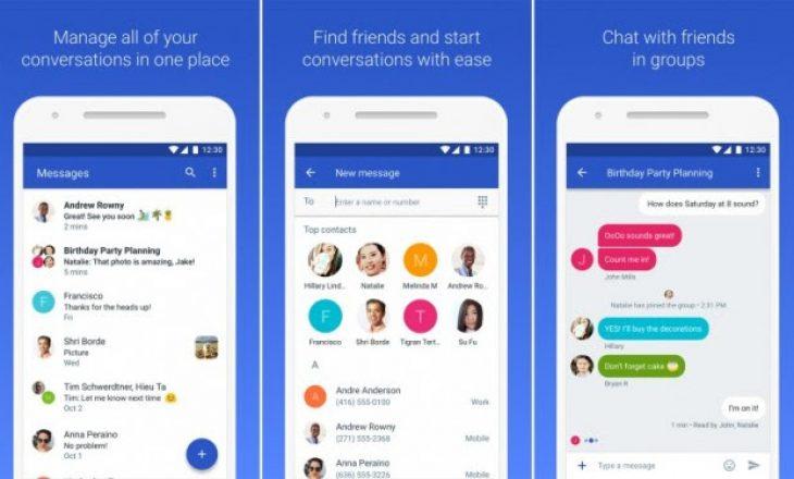 """""""Messages"""" i Google bëhet konkurrent i WhatsApp dhe Viber"""