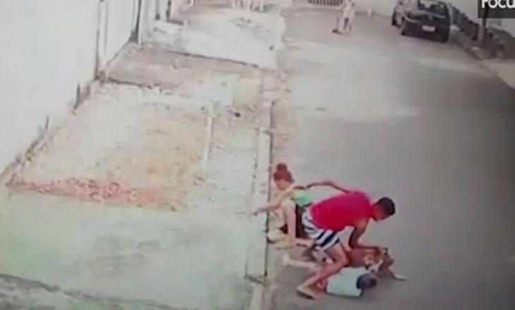 I riu hero lufton me qenin pitbull dhe i shpëton jetën 4-vjeçarit