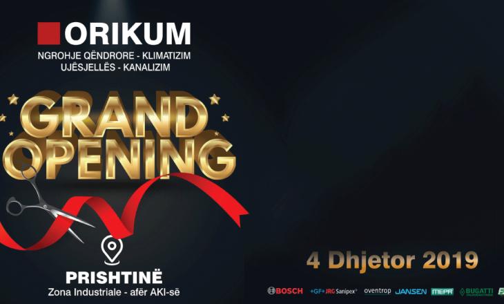"""""""Orikum Group"""" nesër hap show room-in e ri në Prishtinë"""