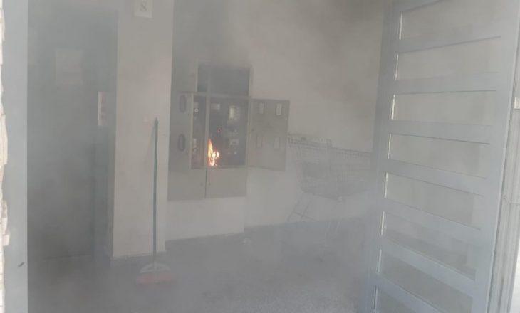 Digjet pjesa elektrike e një ndërtese në Prishtinë