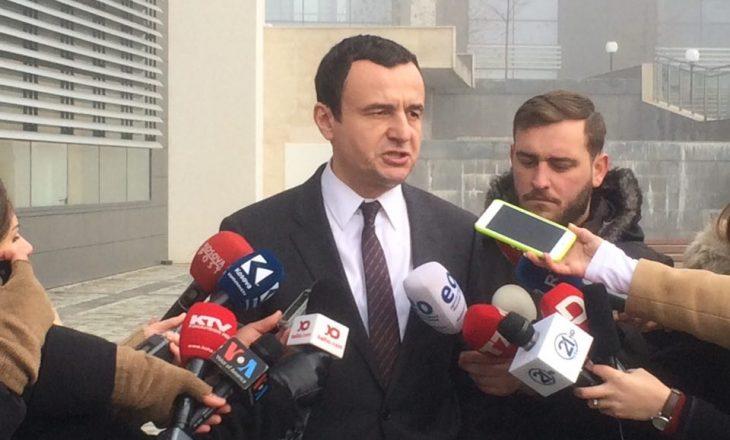 Kurti befasohet me mbledhjen e Këshillit të Përgjithshëm të LDK-së: Shohim nëse kjo mbledhje është thirrur për t'i betonuar qëndrimet