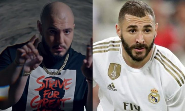 Benzema futet në stadium me këngën e reperit shqiptar