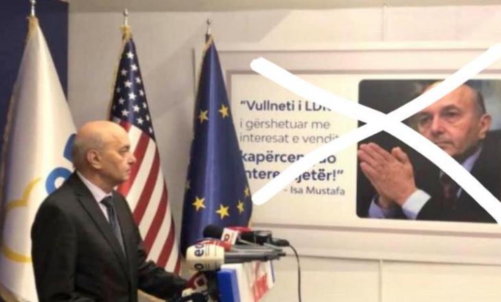 Përkrahësit e Rugovës i reagojnë ashpër Mustafës që vendosi fotografinë e tij në zyrën e LDK'së