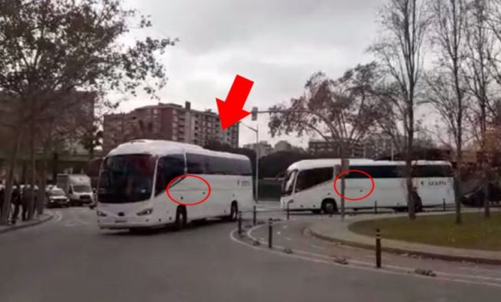 """Autobusi i Real Madridit habitë të gjithë pak para """"El Clasicos"""""""