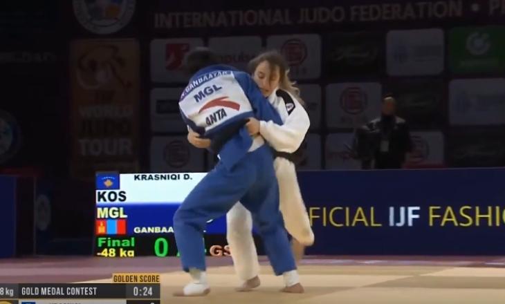 Ky është momenti kur Distria Krasniqi fitoi të artën dhe ngriti flamurin e Kosovës në Kinë [Video]