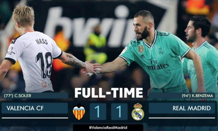 """Dramë në """"Mestalla"""", Reali shpëton nga humbja në sekondat e fundit [Video]"""