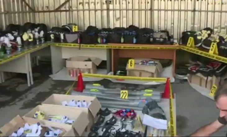 Pamje nga depoja e VV-së ku u gjetën 675 koktej molotovi– Akuza ndaj ish-aktivistëve dhe aktivisti të kësaj partie