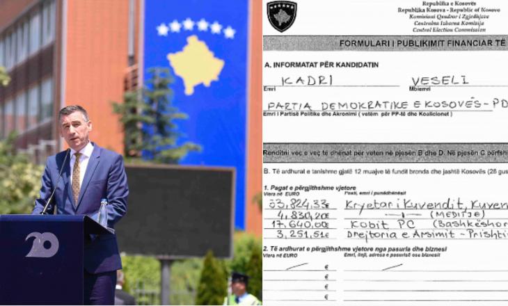 Formularët e KQZ-së zbulojnë kredinë qindra mijëra euro të Kadri Veselit