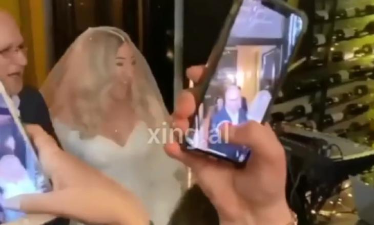 MC Kreshës i shkon nusja me këngën e Medës – Pamje nga dasma