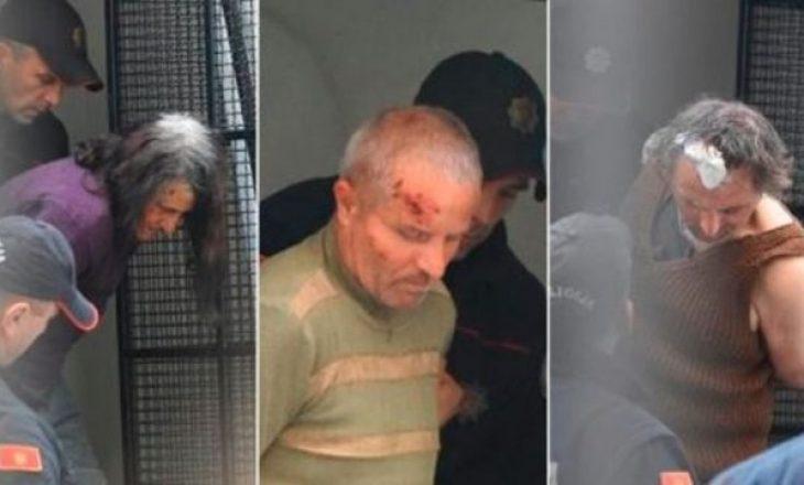 Pamje nga arrestimi i vëllezërve shqiptarë dhe të ëmës që e vranë policin malazez