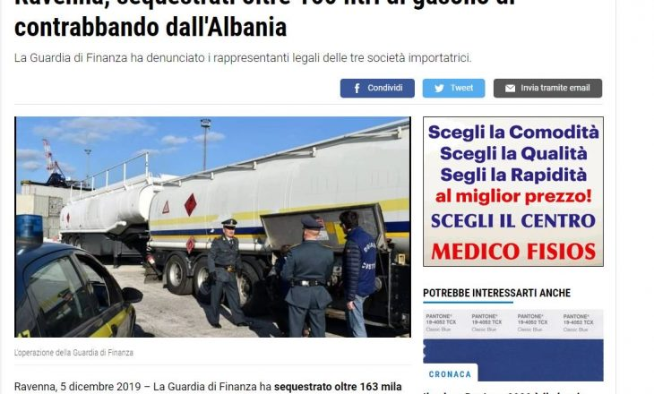 Bllokohen pesë cisterna me naftë në Itali, kishte dalë nga Shqipëria