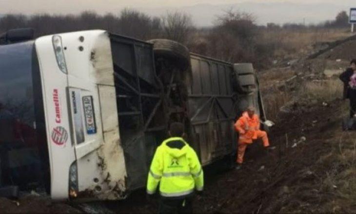 Aksident i rëndë në Serbi – Përmbyset autobusi nga Maqedonia
