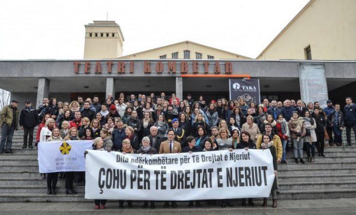 Marsh për të drejtat e njeriut në Prishtinë