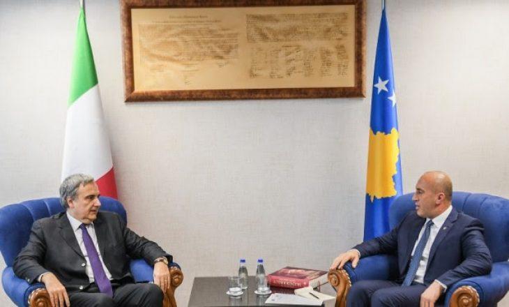 Haradinaj priti në takim lamtumirës ambasadorin e Italisë, Piero Cristoforo Sardi