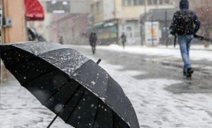 Reshje shiu e bore, temperaturat për sot