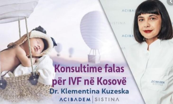 """""""Sistina"""" shkel ligjet e Kosovës, Inspektorati ia ndalon konsultat për IVF në Prishtinë"""
