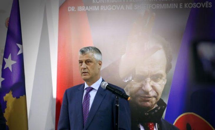 Këto ishin vlerat kryesore të Rugovës sipas Hashim Thaçit