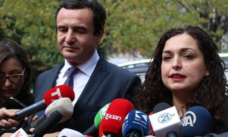Kurti takohet me Osmanin, flasin për konstituimin e institucioneve