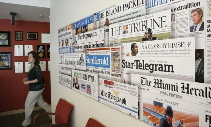 SHBA: Botuesi i dytë më i madh i gazetave shpall falimentimin