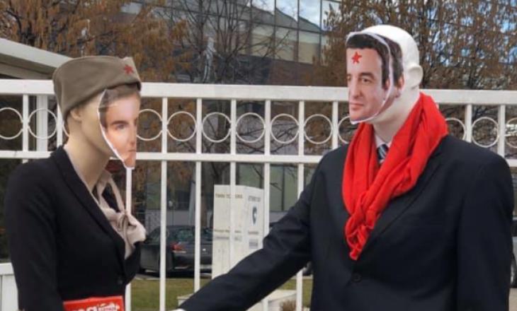 Aktivistët e AAK-së me aksion para qeverisë rreth taksës