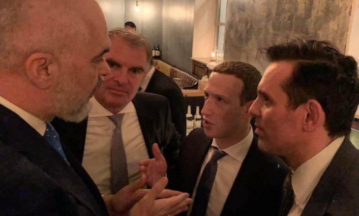Edi Rama takohet me Mark Zuckerberg, krijuesin e Facebook-ut