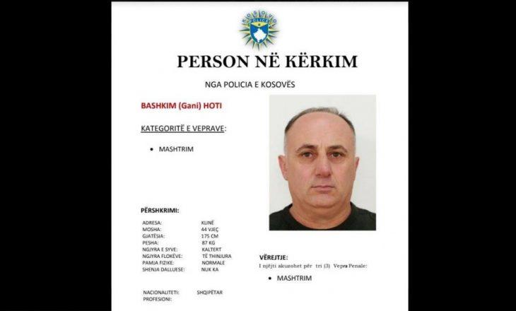 Policia e Kosovës kërkon ndihmë për të kapur Bashkim Hotin