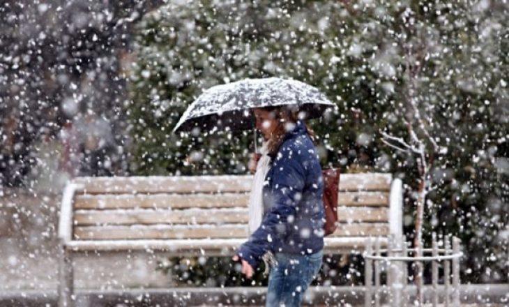 Nesër, reshje shiu e bore në Kosovë