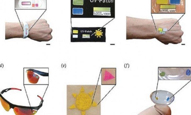 Lente inteligjente të kontaktit që ndryshon ngjyrën kur ekspozohet ndaj dritës UV