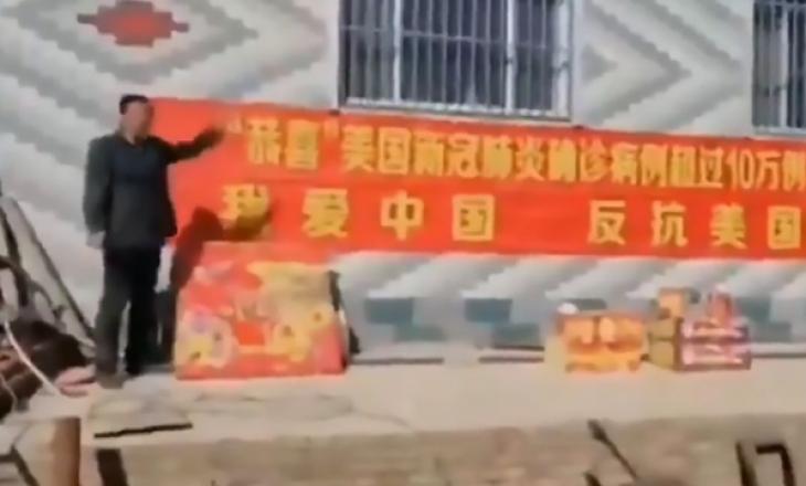 """""""Urime SHBA për 100 mijë rastet me koronavirus"""", videoja skandaloze e kinezëve"""