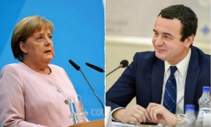Kurti, video-konferencë me Merkel