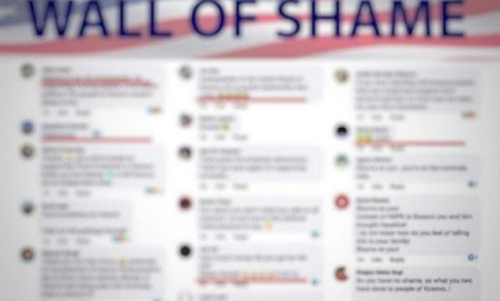 """""""Muri i turpit"""", përkrahës të Kurtit e VV-së të organizuar shajnë e fyejnë ambasadorët amerikanë"""