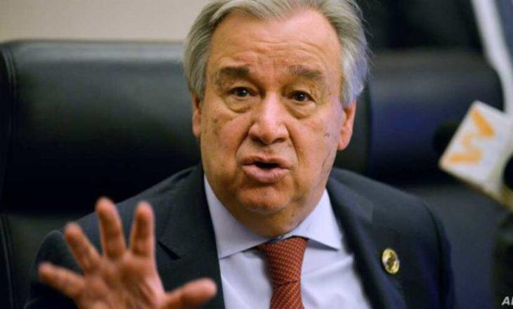 Guterres: Pengesat të hiqen, dialogu Prishtinë-Beograd duhet të vazhdojë